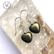 Pyrite Heart Earrings